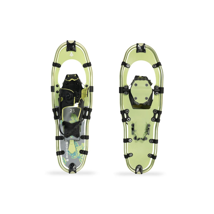 Woods Balsam All-Terrain Lightweight Aluminum Frame Snowshoes with Heel Lift 25 Inch, 200 lb Capacity, with Carry Bag