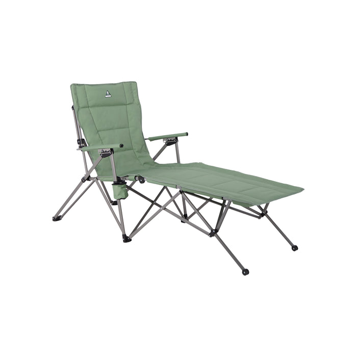 Woods Ashcroft 3-Position Reclining Camping Lounger Chair - Sea Spray