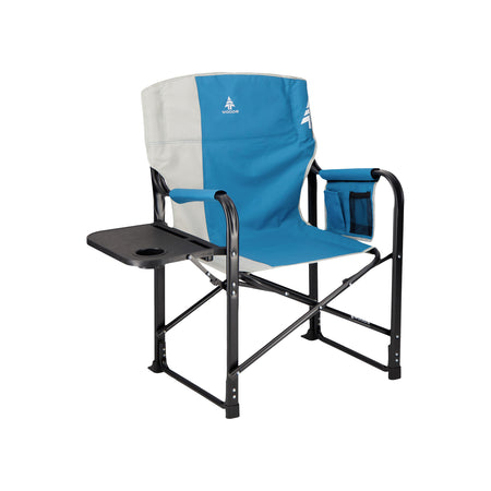 key features Woods Folding Directors Camping Chair With Table - Blue Coral