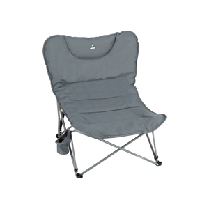 Woods Mammoth Folding Padded Camping Chair - Gun Metal