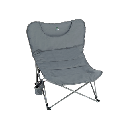 key features Woods Mammoth Folding Padded Camping Chair - Gun Metal