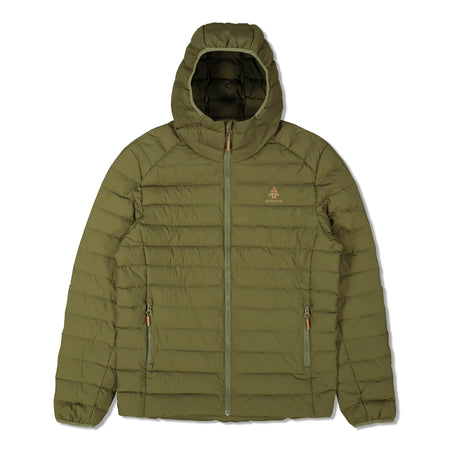 key features Woods Men's Bennington Water-Resistant Down-Insulated Hooded Puffer Jacket - Green