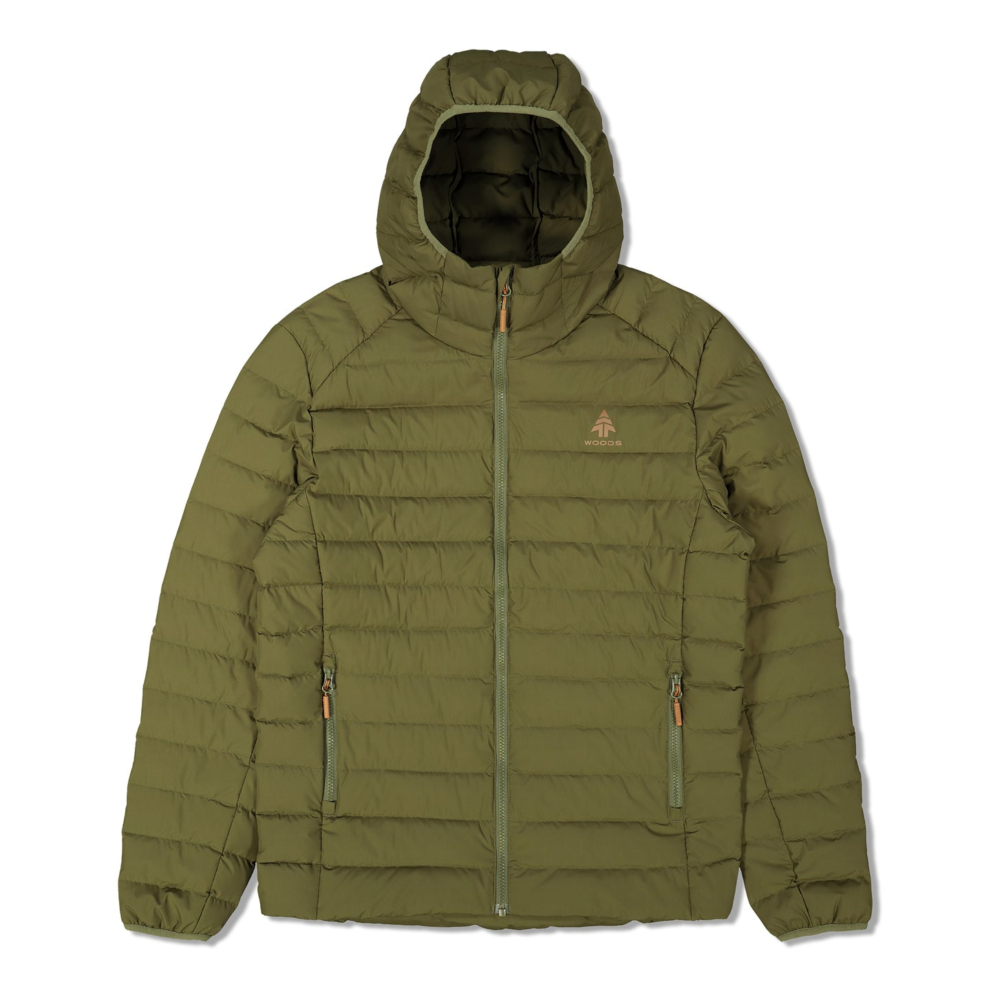 Woods Men's Bennington Water-Resistant Down-Insulated Hooded Puffer Jacket - Green