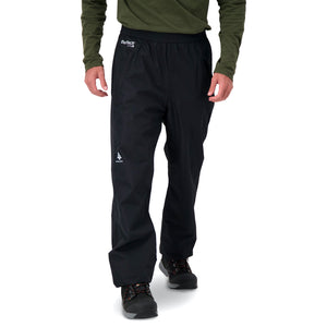 Woods Men's Kerr Water-Resistant Lightweight Packable Rain Pant - Black