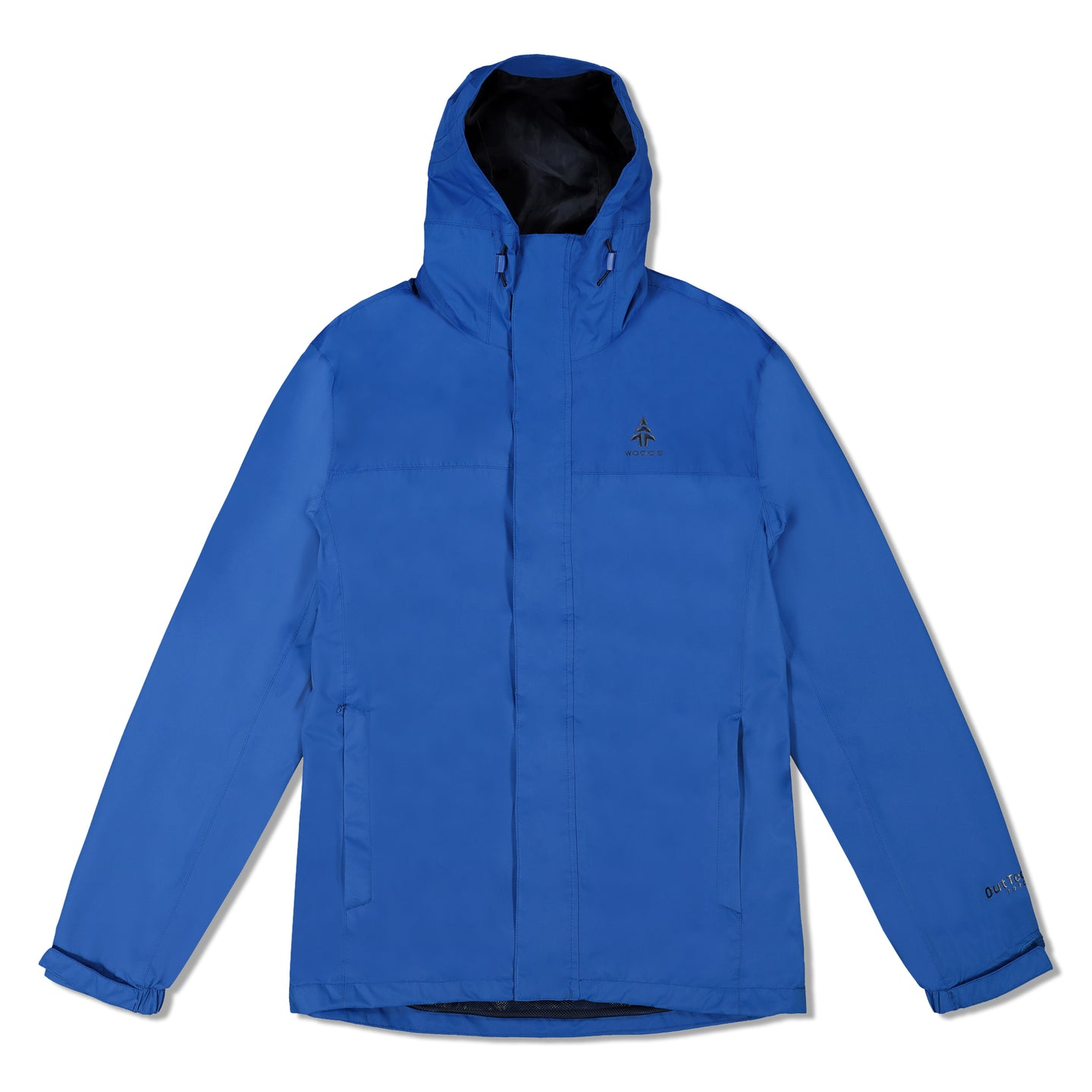 Woods Men's Toba Water-Resistant 2-Layer Shell Hooded Rain Jacket - Blue