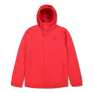 Woods Men's Toba Water-Resistant 2-Layer Shell Hooded Rain Jacket - Red