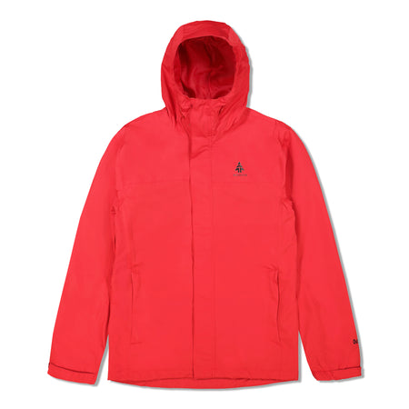 key features Woods Men's Toba Water-Resistant 2-Layer Shell Hooded Rain Jacket - Red