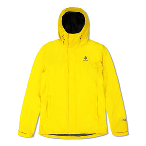 Woods Men's Toba Water-Resistant 2-Layer Shell Hooded Rain Jacket - Yellow