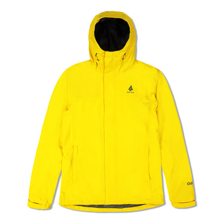 key features Woods Men's Toba Water-Resistant 2-Layer Shell Hooded Rain Jacket - Yellow
