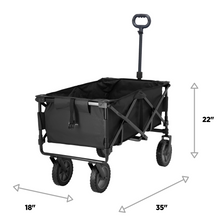 Load image into Gallery viewer, Woods Outdoor Collapsible Utility Standard Wagon - 150 lb Capacity - Black