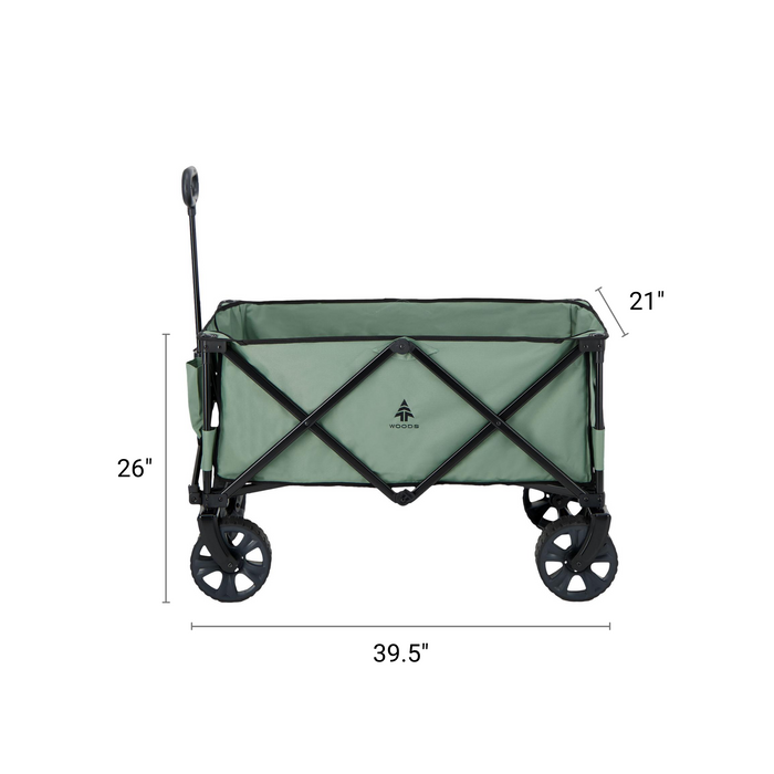 Woods Outdoor Collapsible Utility King Wagon - 225 lb Capacity - Sea Spray