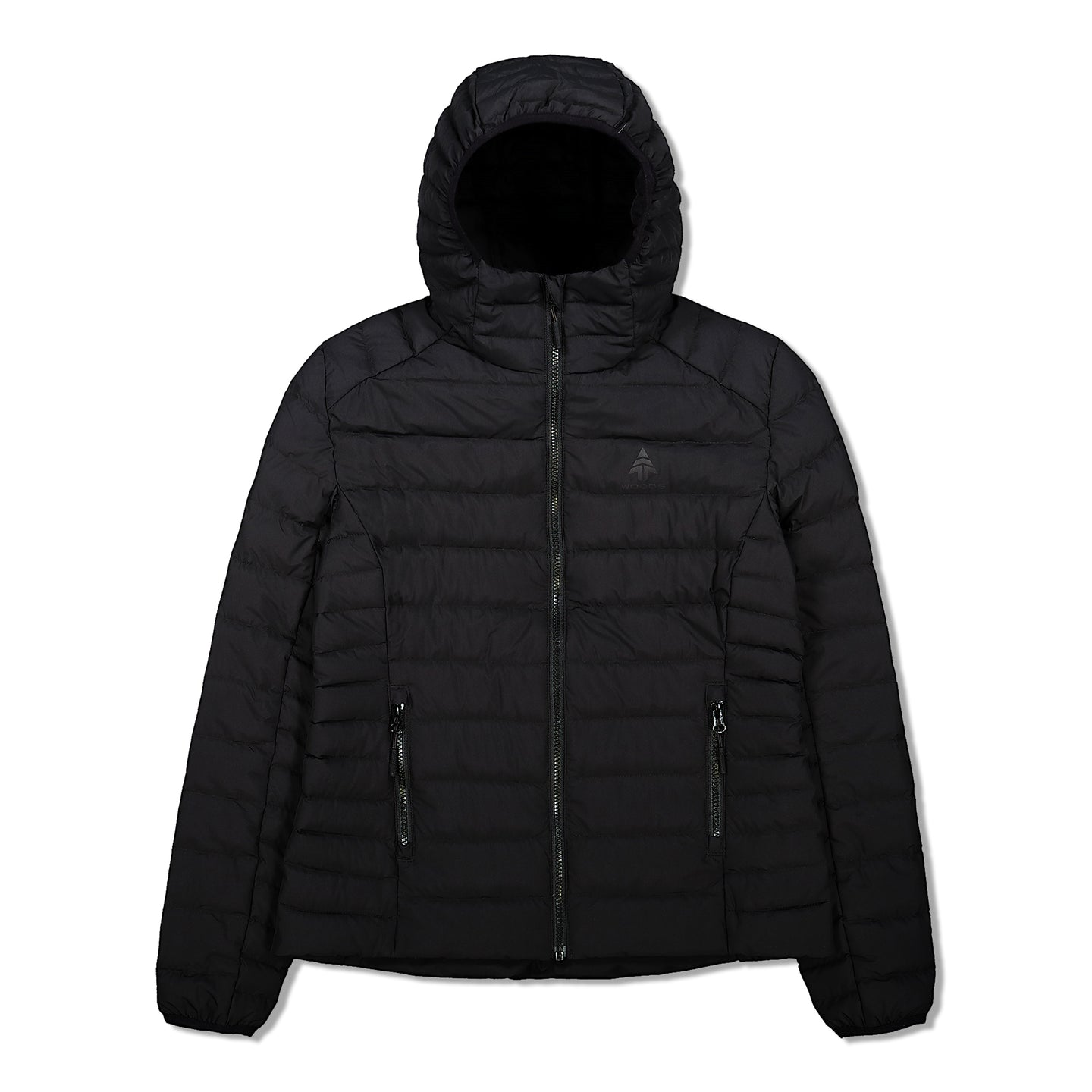 Woods Women's Bennington Water-Resistant Down-Insulated Hooded Puffer Jacket - Black