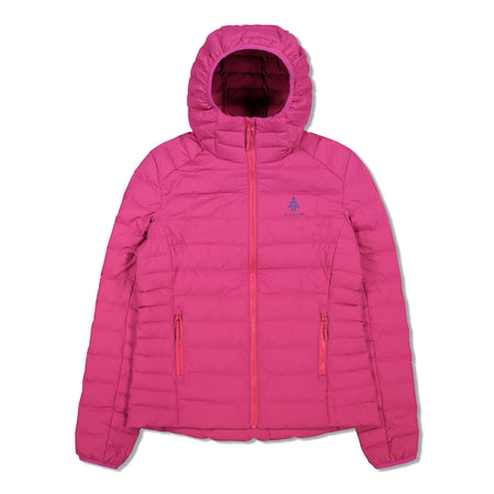 key features Woods Women's Bennington Water-Resistant Down-Insulated Hooded Puffer Jacket - Fuchsia