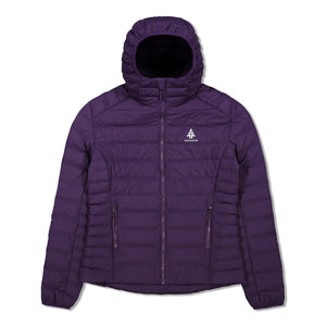Woods Women's Bennington Water-Resistant Down-Insulated Hooded Puffer Jacket - Violet