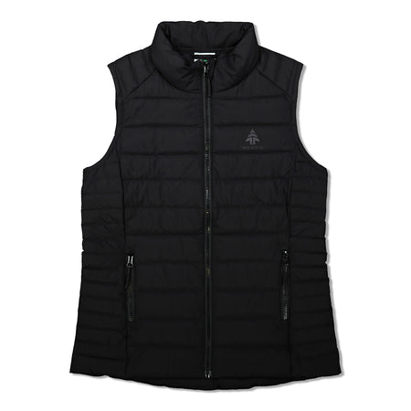 key features Woods Women's Bennington Water-Resistant Down-Insulated Puffer Vest - Black