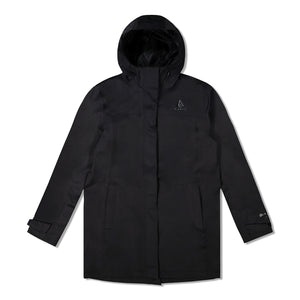 Woods Women's Monolith Water-Resistant 2-Layer Mid-Length Jacket - Black