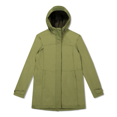 key features Woods Women's Monolith Water-Resistant 2-Layer Mid-Length Jacket - Green