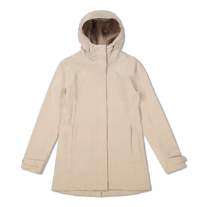 Woods Women's Monolith Water-Resistant 2-Layer Mid-Length Jacket - Taupe