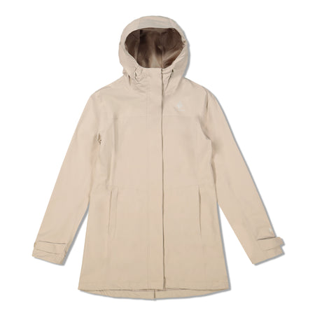key features Woods Women's Monolith Water-Resistant 2-Layer Mid-Length Jacket - Taupe