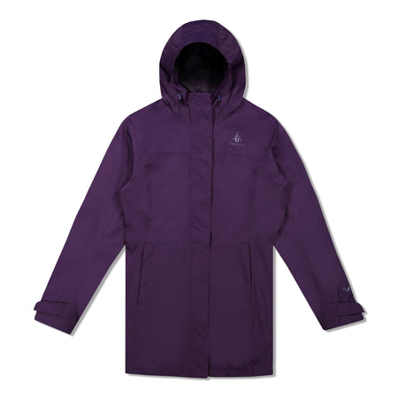 key features Woods Women's Monolith Water-Resistant 2-Layer Mid-Length Jacket - Violet