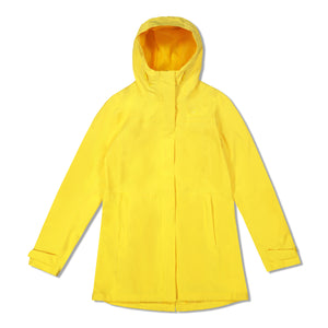 Woods Women's Monolith Water-Resistant 2-Layer Mid-Length Jacket - Yellow