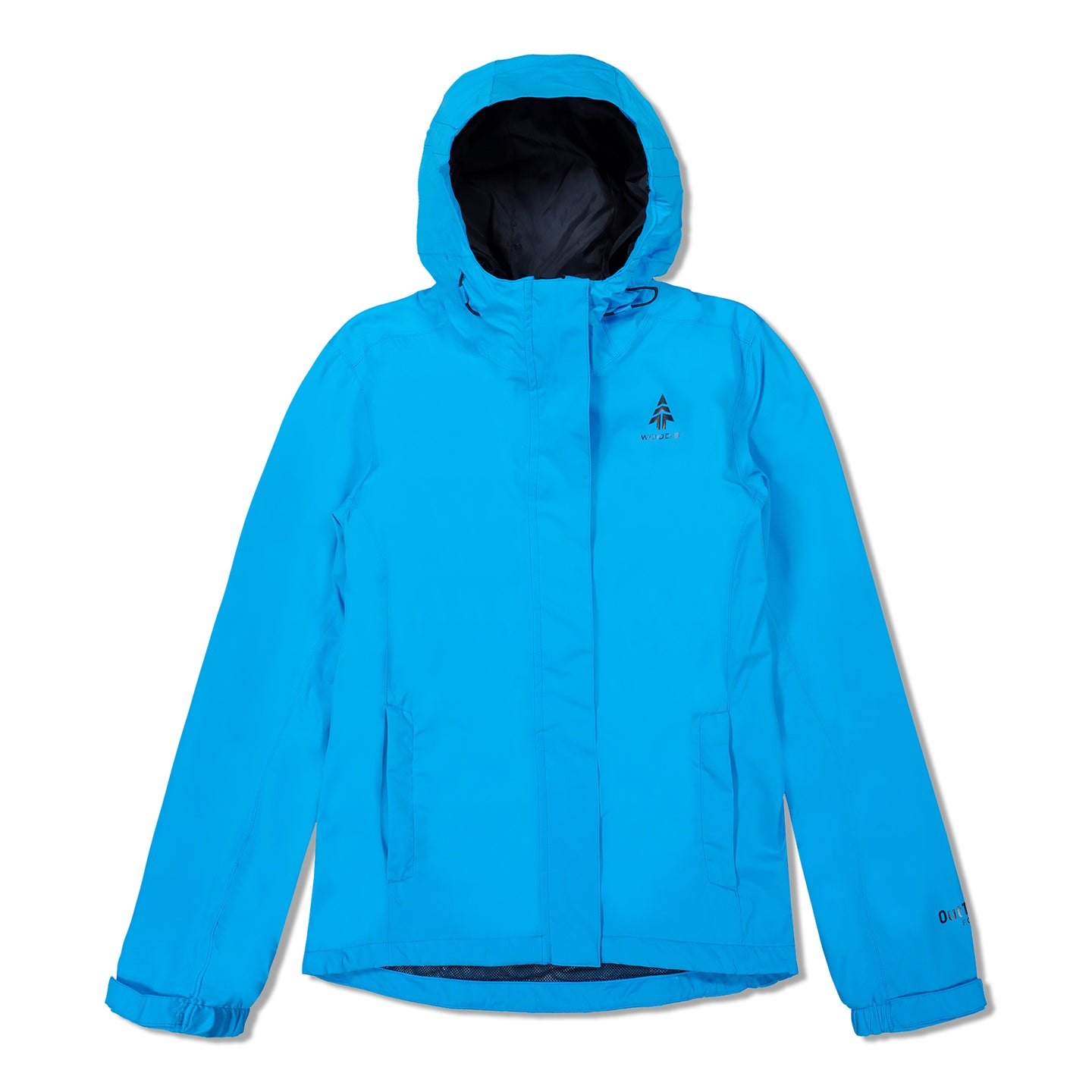 Woods Women's Toba Water-Resistant 2-Layer Shell Hooded Rain Jacket - Blue