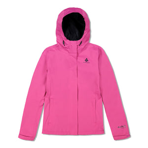 Woods Women's Toba Water-Resistant 2-Layer Shell Hooded Rain Jacket - Fuchsia