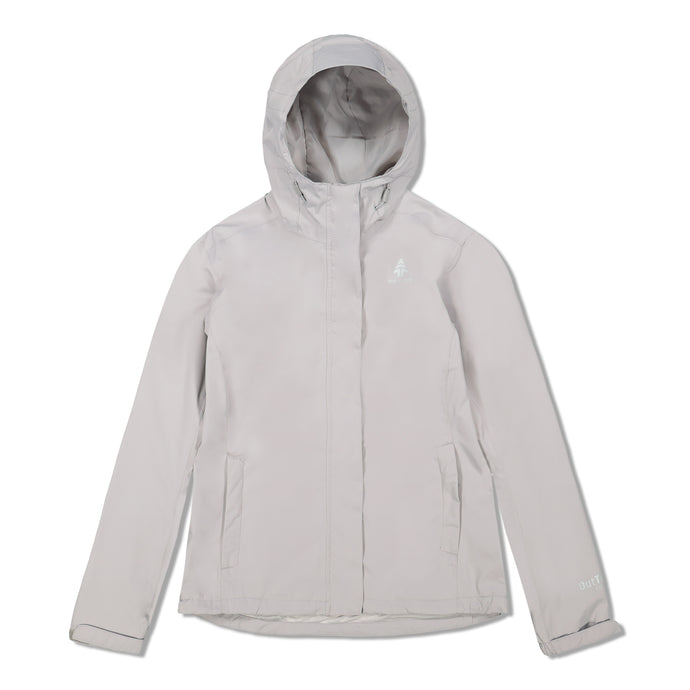 Woods Women's Toba Water-Resistant 2-Layer Shell Hooded Rain Jacket - Ivory