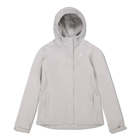 key features Woods Women's Toba Water-Resistant 2-Layer Shell Hooded Rain Jacket - Ivory