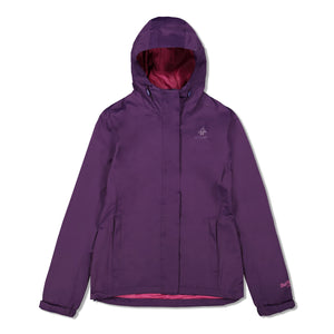 Woods Women's Toba Water-Resistant 2-Layer Shell Hooded Rain Jacket - Violet