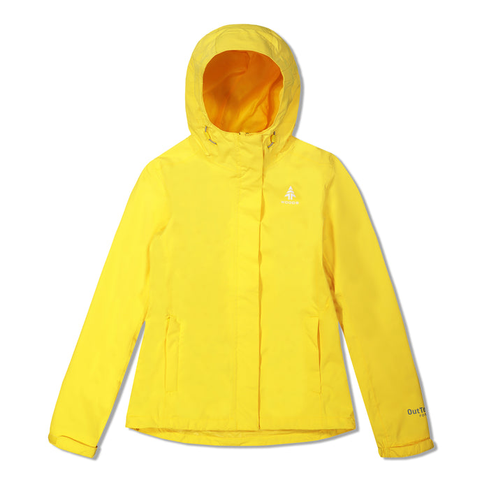 Woods Women's Toba Water-Resistant 2-Layer Shell Hooded Rain Jacket - Yellow