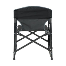 Load image into Gallery viewer, Woods Prospector Folding Aluminum Camping Chair with Table - Black