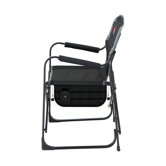 Woods Prospector Folding Aluminum Camping Chair with Table - Black