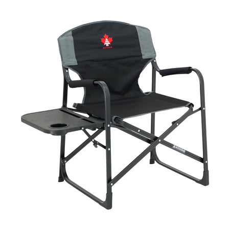 key features Woods Prospector Folding Aluminum Camping Chair with Table - Black