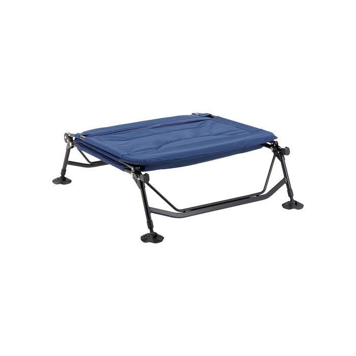 Woods Portable Quick Set-up Folding Adjustable 2-in-1 Camping Lounger/Cot - Navy