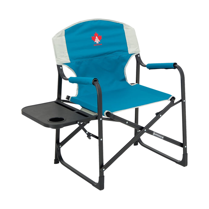 Woods Prospector Aluminum Chair with Table - Blue