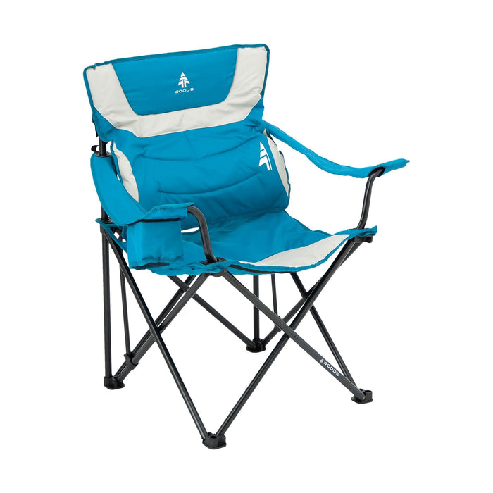 Woods Full Back Comfort Deluxe Lumbar Folding Camping Chair - Blue