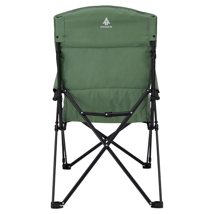 Woods Siesta Folding Reclining Padded Camping Chair - Sea Spray