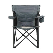 Load image into Gallery viewer, Woods Full Back Comfort Deluxe Lumbar Folding Camping Chair - Gray