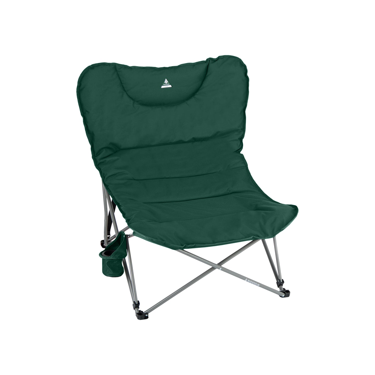 Woods Mammoth Folding Padded Camping Chair - Green