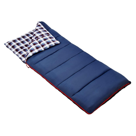 key features Outbound Compact Comfort Cold Weather Camping Sleeping Bag: 23 Degree - Navy