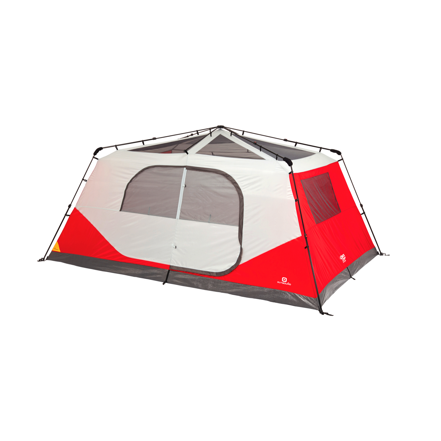 Outbound 10-Person 3-Season Instant Pop-Up Cabin Tent with Carry Bag and Rainfly - Red