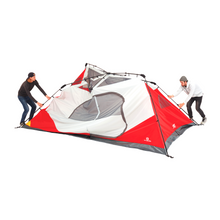 Load image into Gallery viewer, Outbound 10-Person 3-Season Instant Pop-Up Cabin Tent with Carry Bag and Rainfly - Red