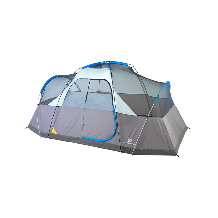 Outbound 8-Person 3-Season Lightweight Dome Tent with Carry Bag and Rainfly - Blue