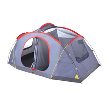 Load image into Gallery viewer, Outbound 8-Person 3-Season 2-Room Lightweight Dome Tent with Carry Bag and Rainfly – Red