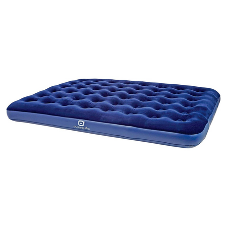 key features Outbound Queen Lightweight Portable Flocked Air Mattress