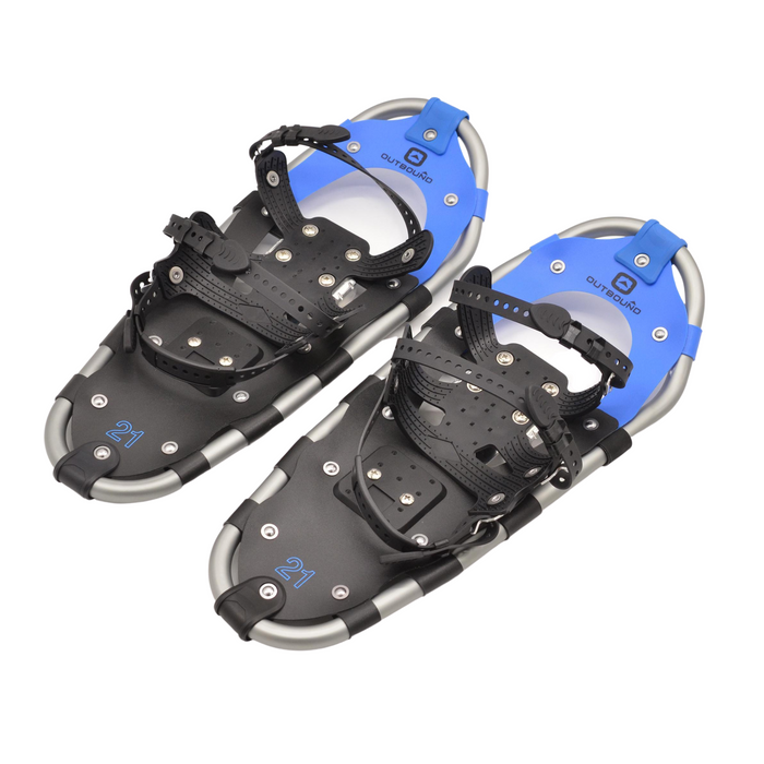 Outbound Unisex Lightweight Aluminum Frame Snowshoes: 21 in, 120 lb Capacity