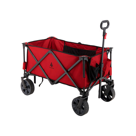 key features Woods Outdoor Collapsible Utility King Wagon - 225 lb Capacity - Red