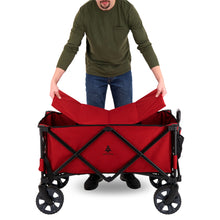 Load image into Gallery viewer, Woods Outdoor Collapsible Utility King Wagon - 225 lb Capacity - Red