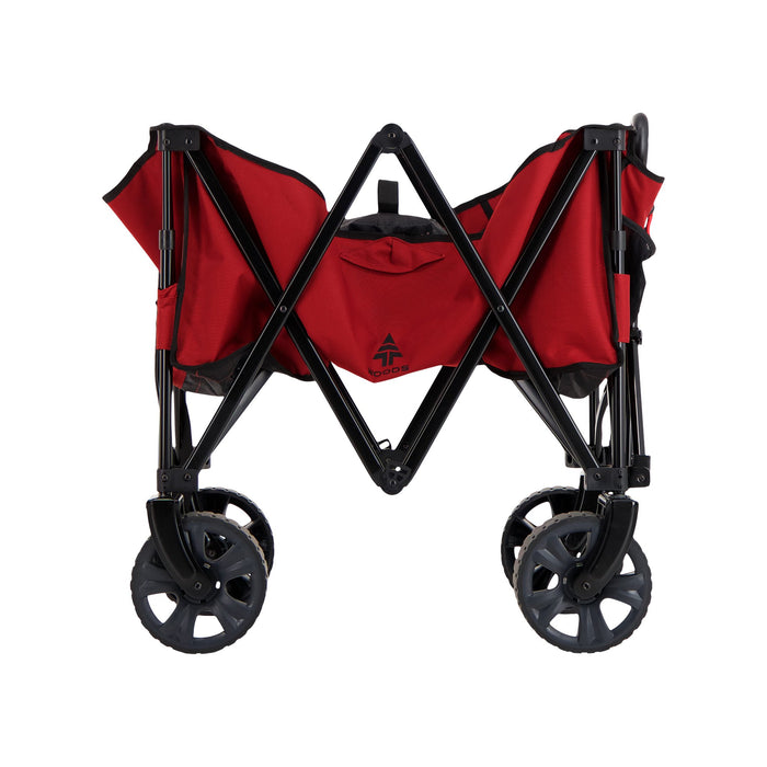 Woods Outdoor Collapsible Utility King Wagon - 225 lb Capacity - Red